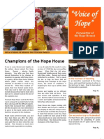 """Voice of Hope"" - Newsletter of the Hope House"