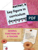 The Teacher, A Key Figure in Curriculum Development