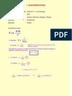 1 Formulae Electrostatics