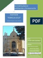 ESTUDIO PATOLÓGICO. Propuesta de Rehabilitación del Panteón de la Familia Golf