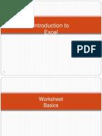 Basic Excel Formulas