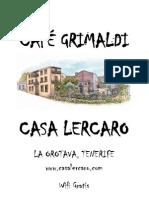 Carta Menu Café Grimaldi