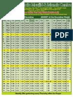 HJM July 2012 Prayer Timetable