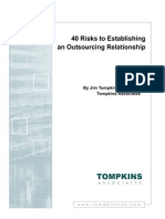 40 Outsourcing Risks