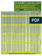 HJM August 2012 Prayer Timetable