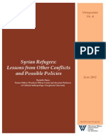 Syrian Refugees Lessons From Other Conflicts and Possible Policies