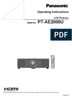 Panasonic PT-AE2000U LCD Projector Manual