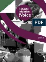 RECOM Initiative !Voice - 7/2012