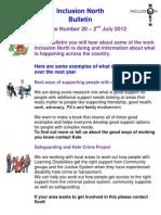 Inclusion North Bulletin 20