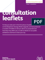 Our consultation leaflets
