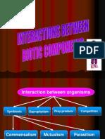 Interaction Between Biotic Components