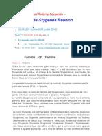La Déclaration universelle des famille Szygenda Réunion - l'annonce.