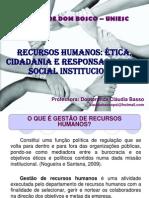 RH- ética, cidadania e responsabilidade social  2012