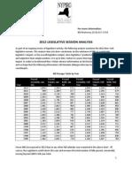 NYPIRG 2012 Session Analysis
