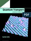 Datta.S Quantum Transport Atom to Transistor Cup 2005