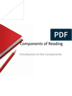 components of reading intro