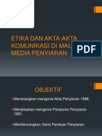 Unit 9 Etika Dan Akta-Akta Komunikasi Penyiaran Malaysia