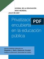 Privatizacion Encubierta de La Educacion Publica