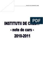 Institutii de Credit Partea I