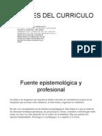 Fuentes Del Curriculo