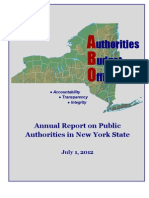 Authorities 2012 Annual Report