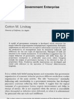 Theory of Government Enterprise- Cotton
