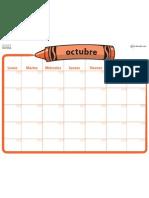 1541 Calendarios Planeadores Oct