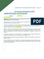 """""""México ingresará al mercado colombiano en 2012 mediante el negocio de las Franquicias"""" 30 de Septiembre de 2011-RCN La Radio"""