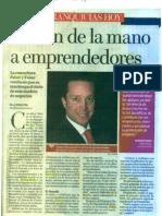 """""""Llevan de la mano a emprendedores"""" 20 de Septiembre de 2011-Excélsior"""