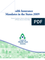 Health Insurance Mandates 2009