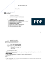 Projet Didactique Clasa a v a Insp