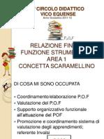 Funzione Strumentale -Area 1-Relazione attività a.s. 2011- 2012