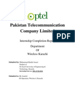 Internship report in PTCL, WLL department