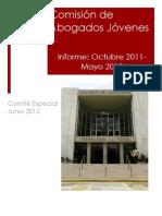 Informe de Comisión de Abogados Jóvenes- Junio 2012