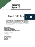 Brake Calculations