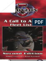 Mgp3401 - Babylon 5 Wargame - A Call to Arms - Fleet Lists, 2nd Edition