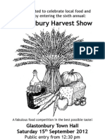 Harvest Show Programme 2012