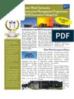Construction Management Prospectus