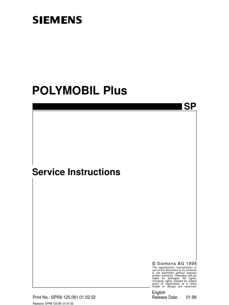 polymobile plus service capacitor power inverter rh es scribd com  siemens polymobil 10 service manual pdf