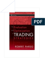 Evaluation Optmization Trading Strategies Robert Pardo