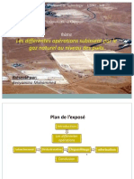 Les différentes opérations subissent par le gaz naturel au niveau des puits
