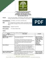 DOA Board Meeting May 2, 2012 Minutes