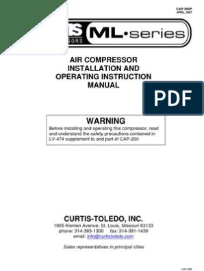 sanborn air compressor centrifugal switch with wiring diagram curtis toledo masterline compressor manual valve clothes dryer  curtis toledo masterline compressor