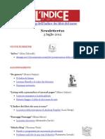 Newsletter #10 del blog dell'Indice dei libri del mese- 3 Luglio 2012