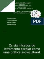 Slide - Letramento Escolar