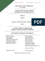 Verizon-MetroPCS Net Neutrality Brief - As FILED