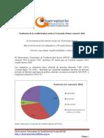 Tendencias de La Conflictividad Social en Venezuela 1er Semestre 2012