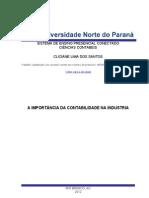 Contabilidade Industrial - Portifolio Individual