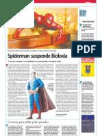 Spiderman suspende Bioloxía