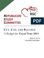 Rsc Budget Cut Cap and Balance--long Doc--final